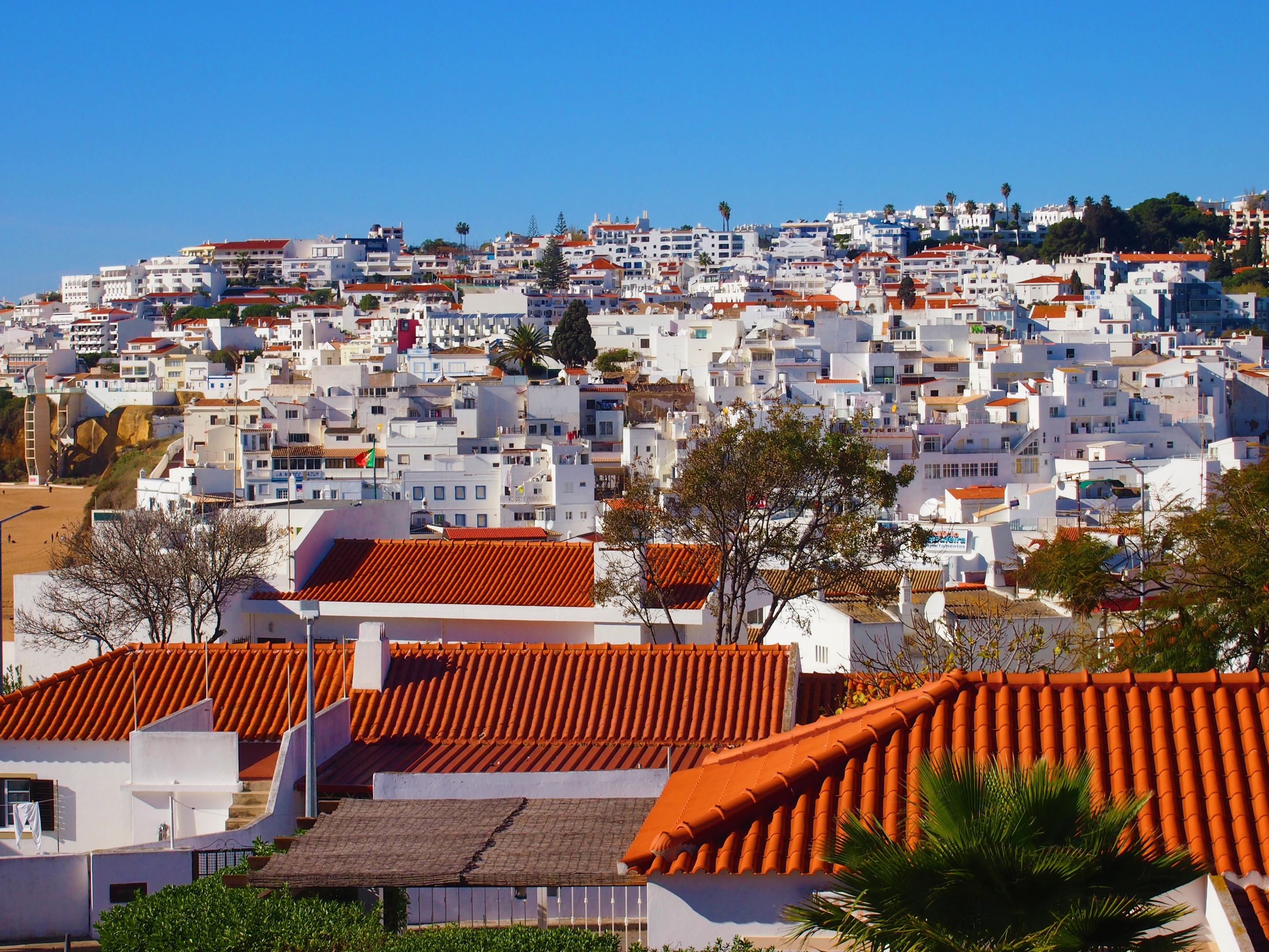 Whitewashed houses - looking towards the Old Town, Albufeira