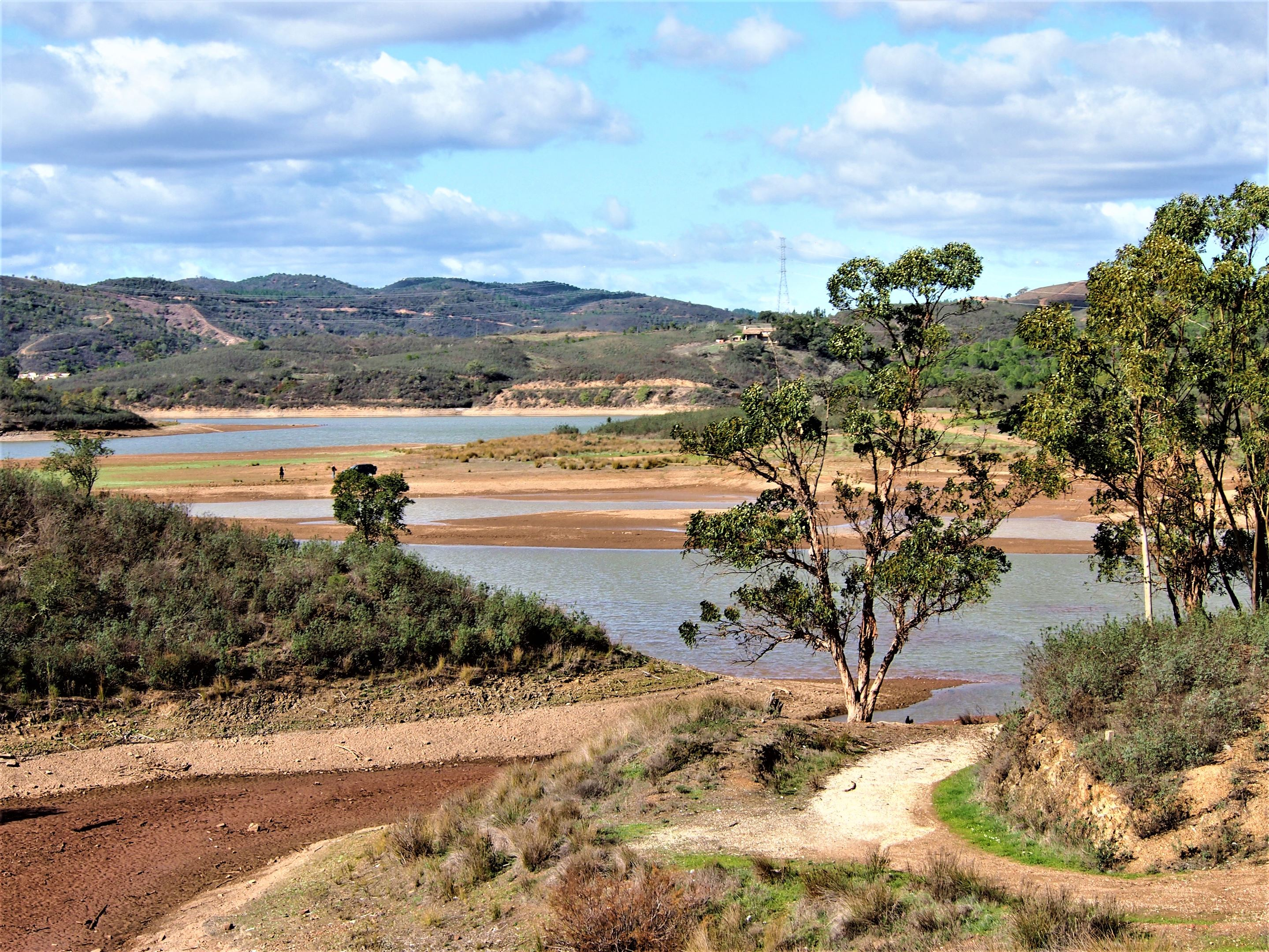 View of the Barragem do Funcho (or Funcho dam), on the way from Messines to São Marcos da Serra