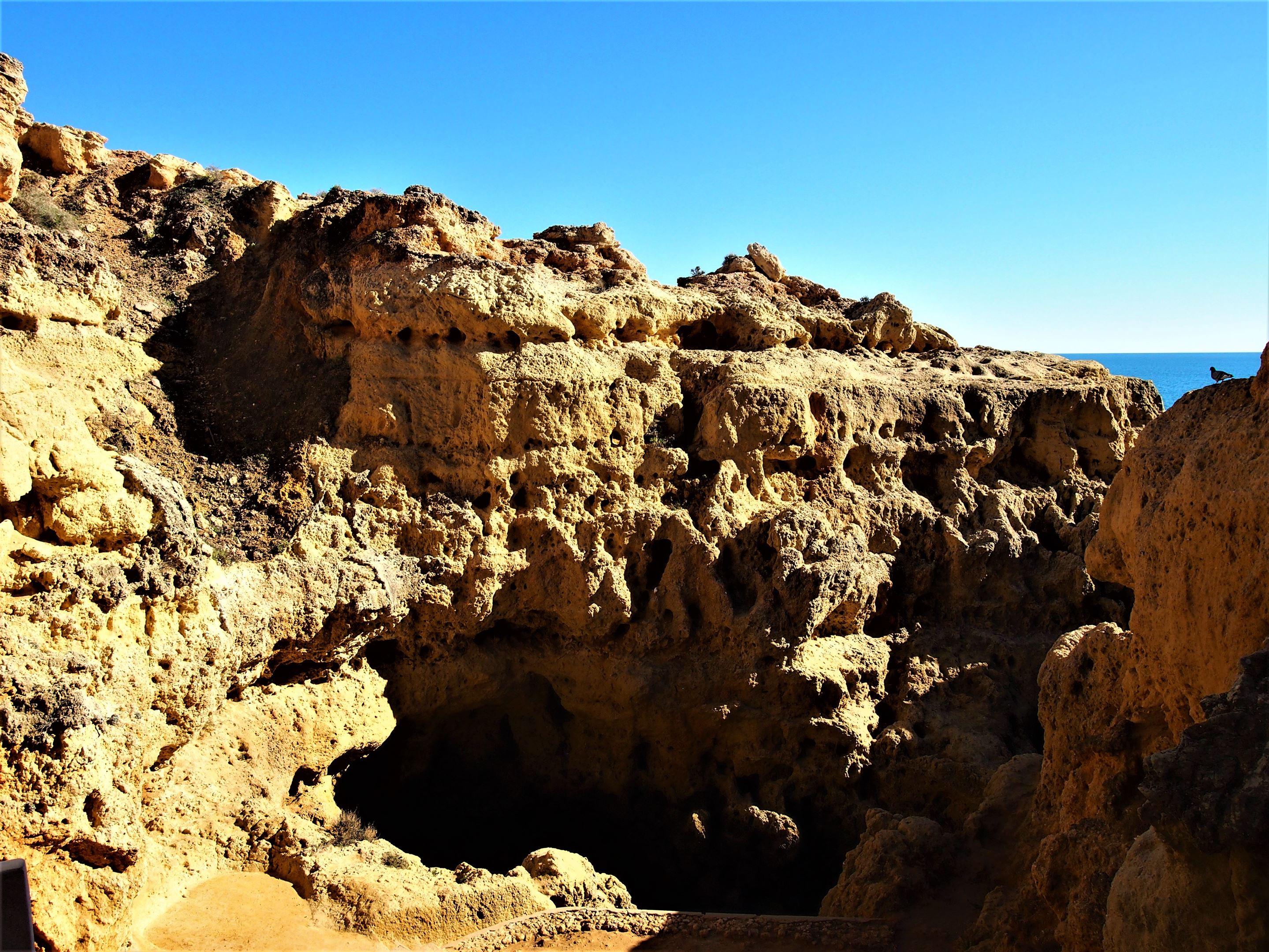 Algar Seco, Carvoeiro - No topo, antes de descer pelos degraus rochosos