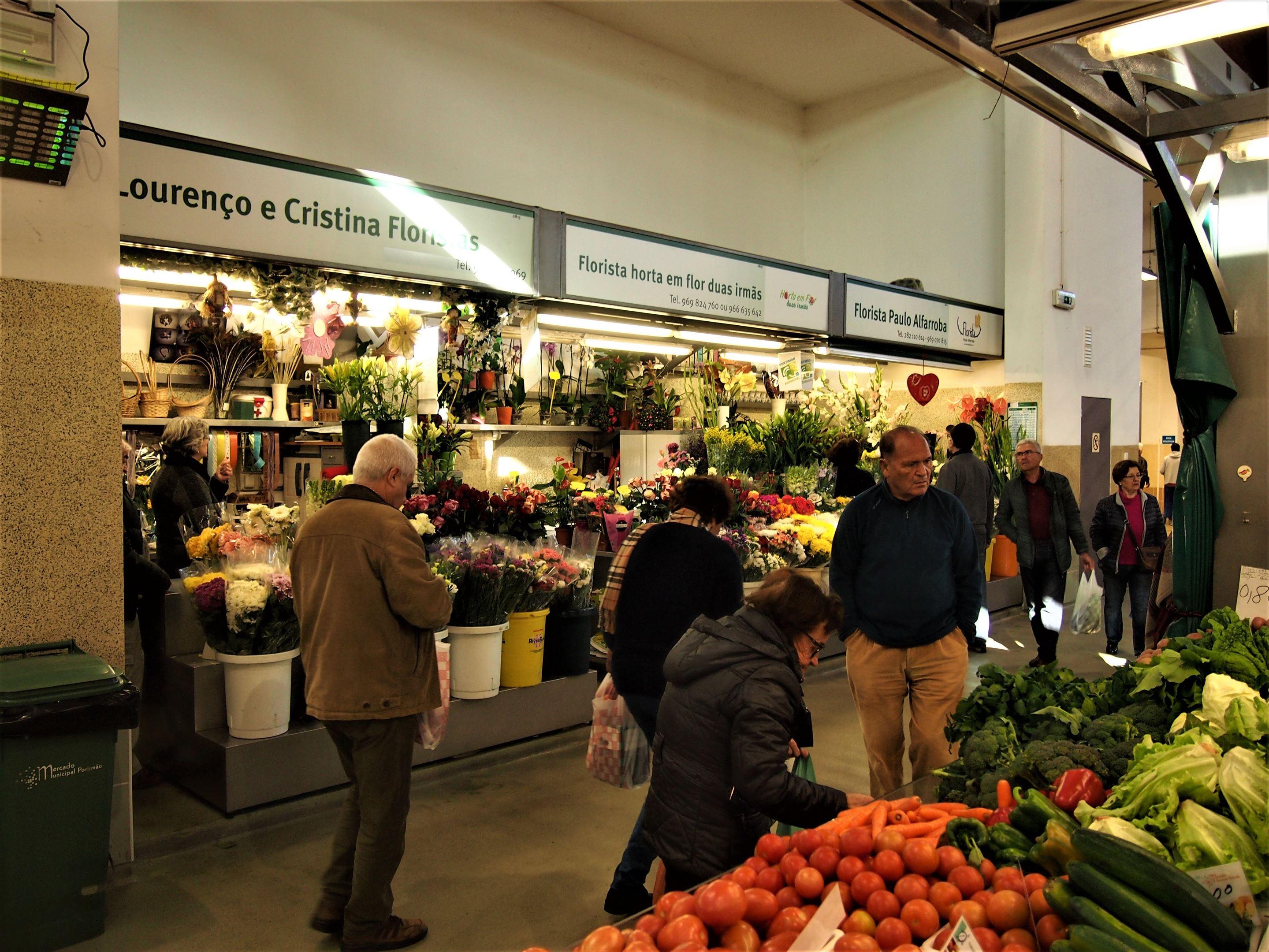 Interior del Mercado Municipal de Portimão