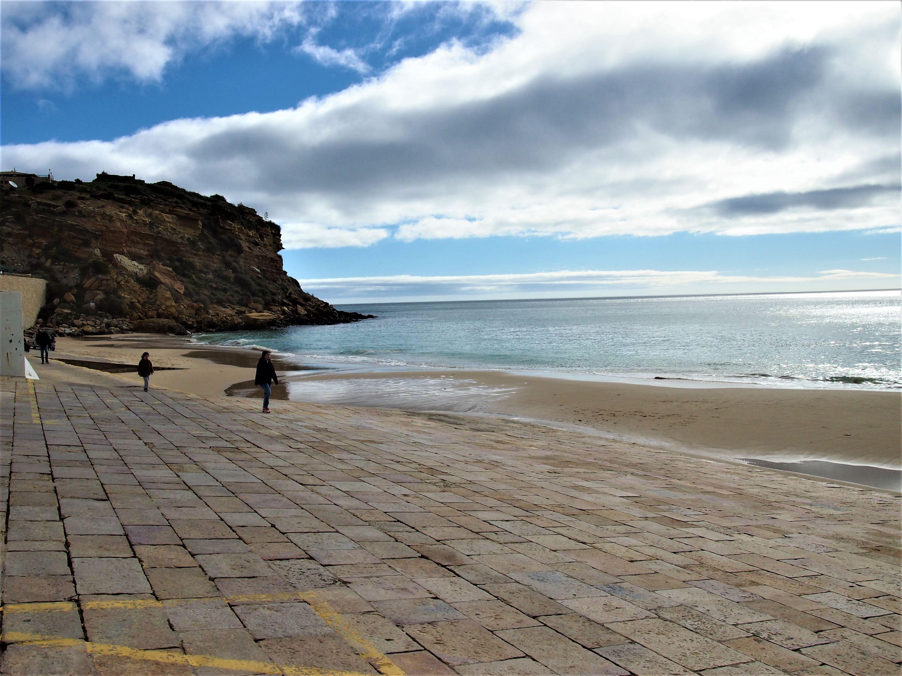 Praia de Burgau in the Vila do Bispo region
