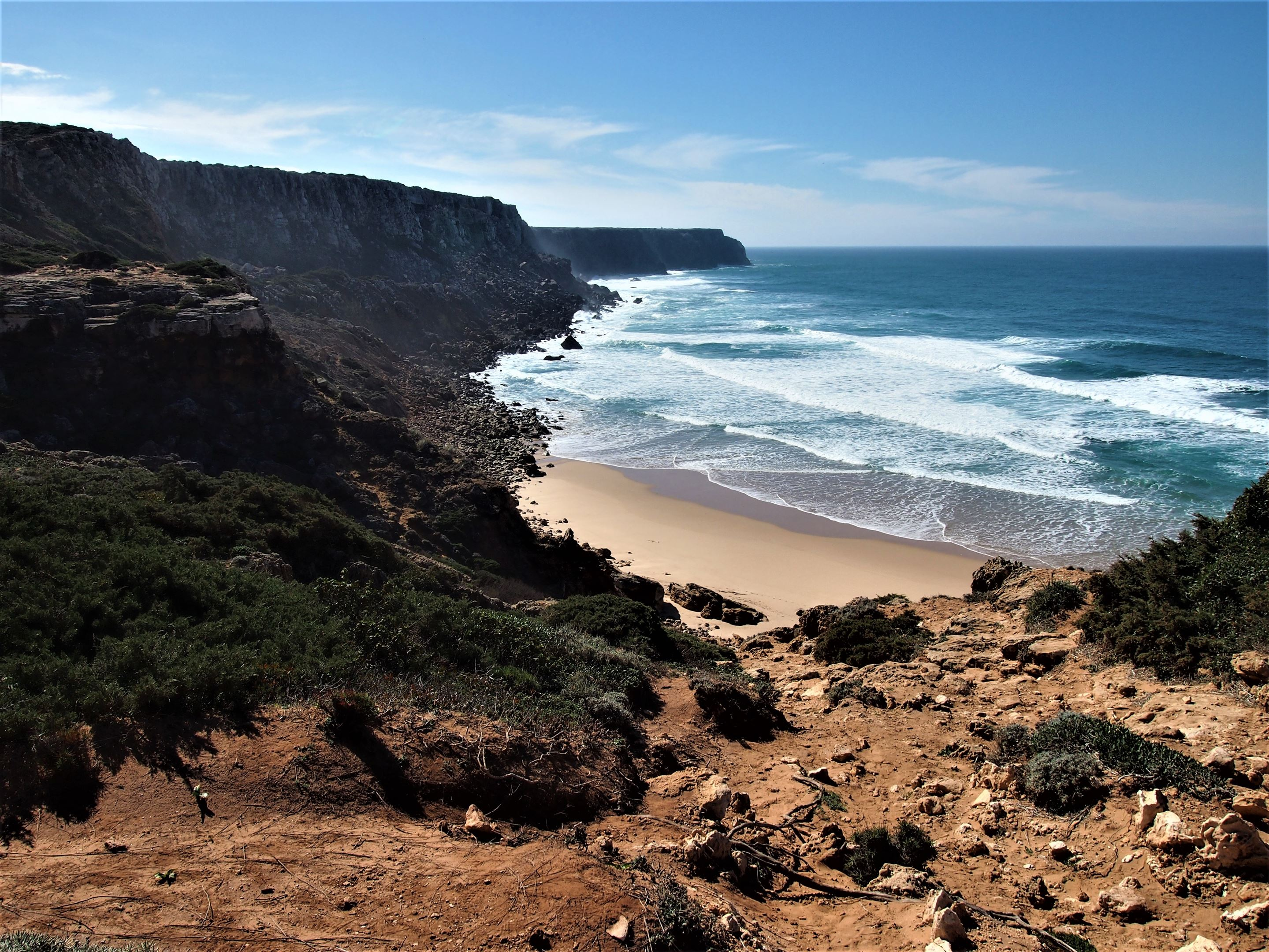 Praia do Telheiro, Algarve. Not the easiest beach to get to, but well worth the drive across the dirt track