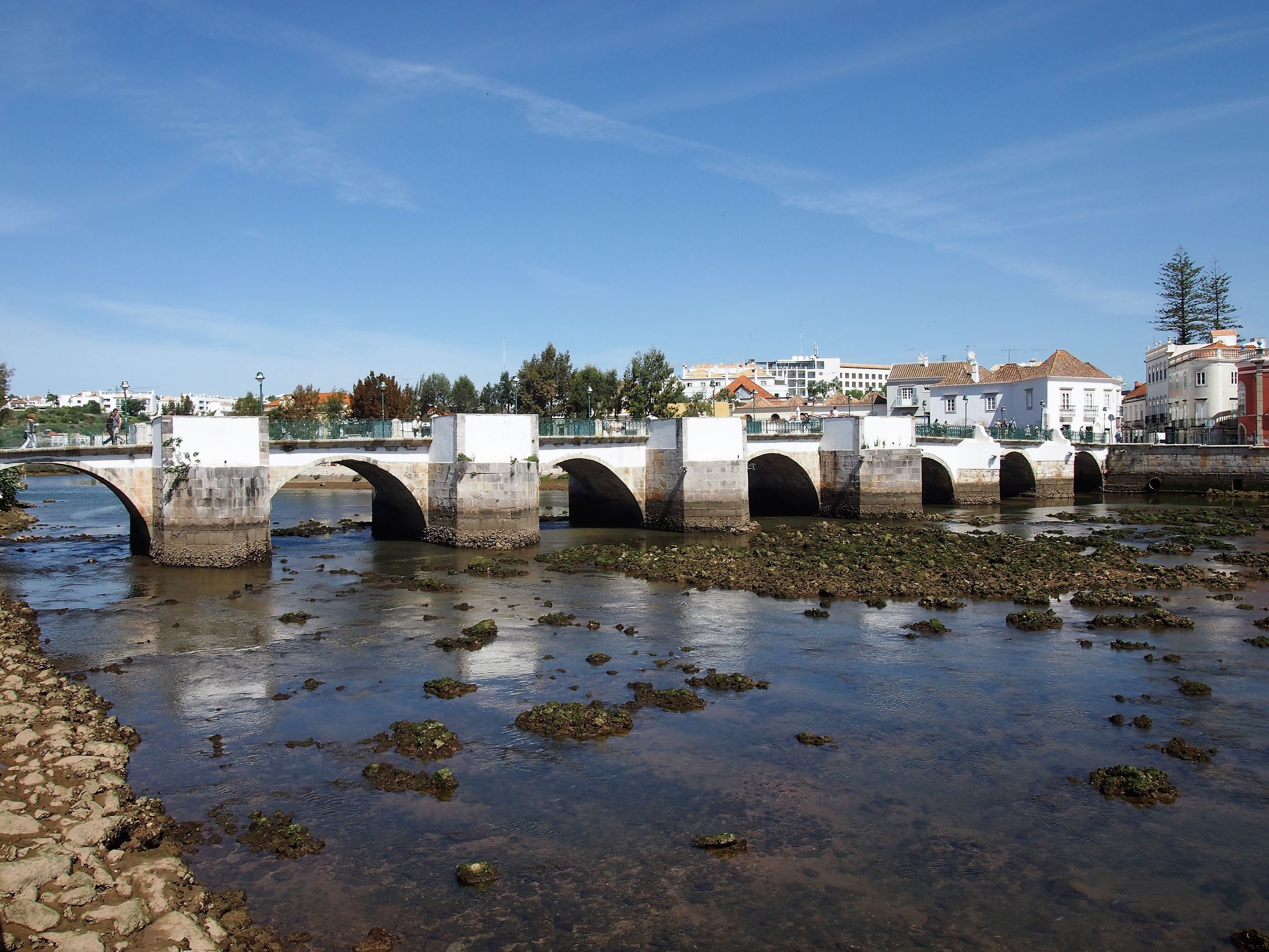 The Roman bridge (not actually Roman) which crosses the Gilão River in Tavira