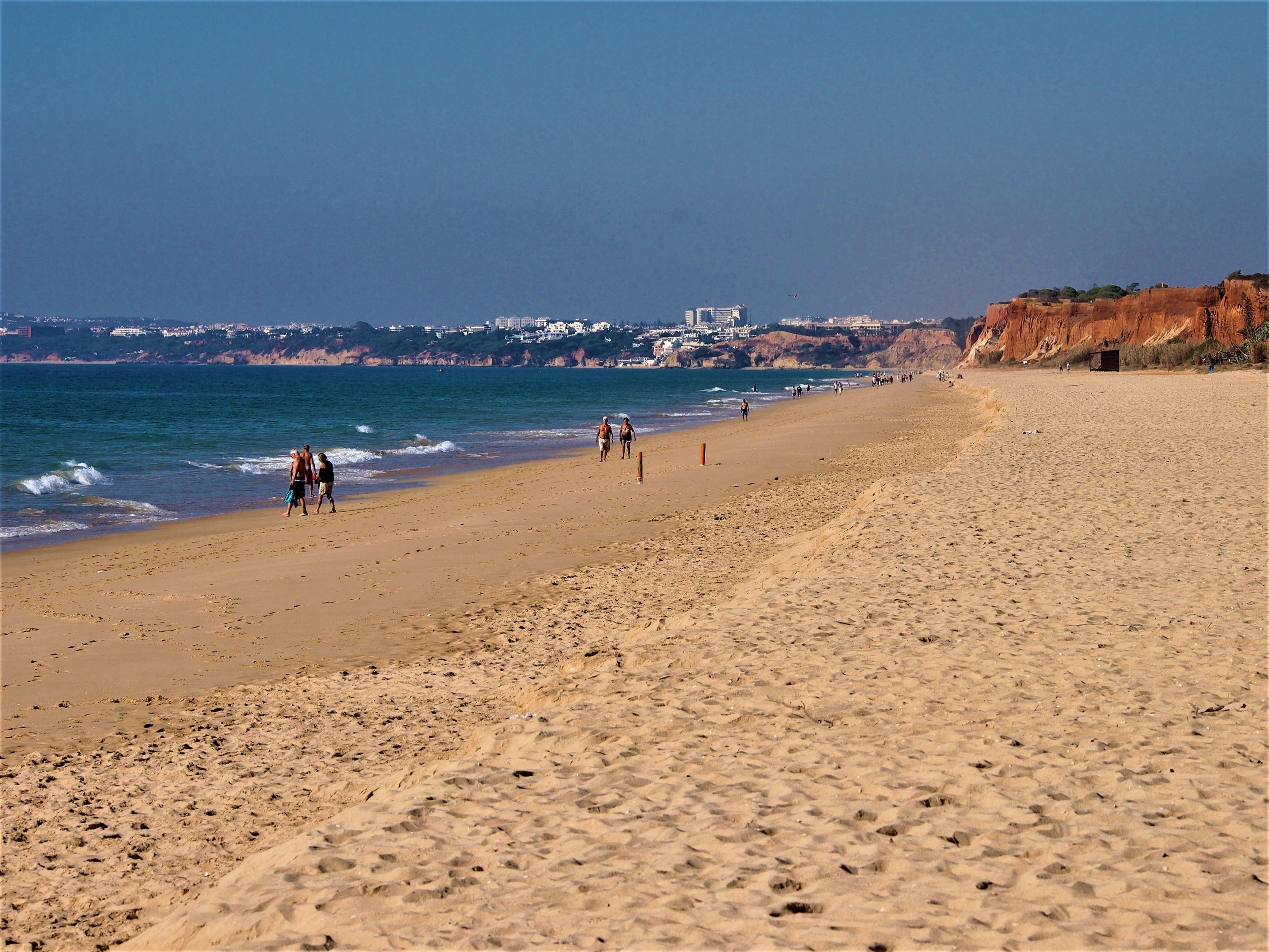 Praia da Falésia, looking east towards Olhos de Água from Vilamoura