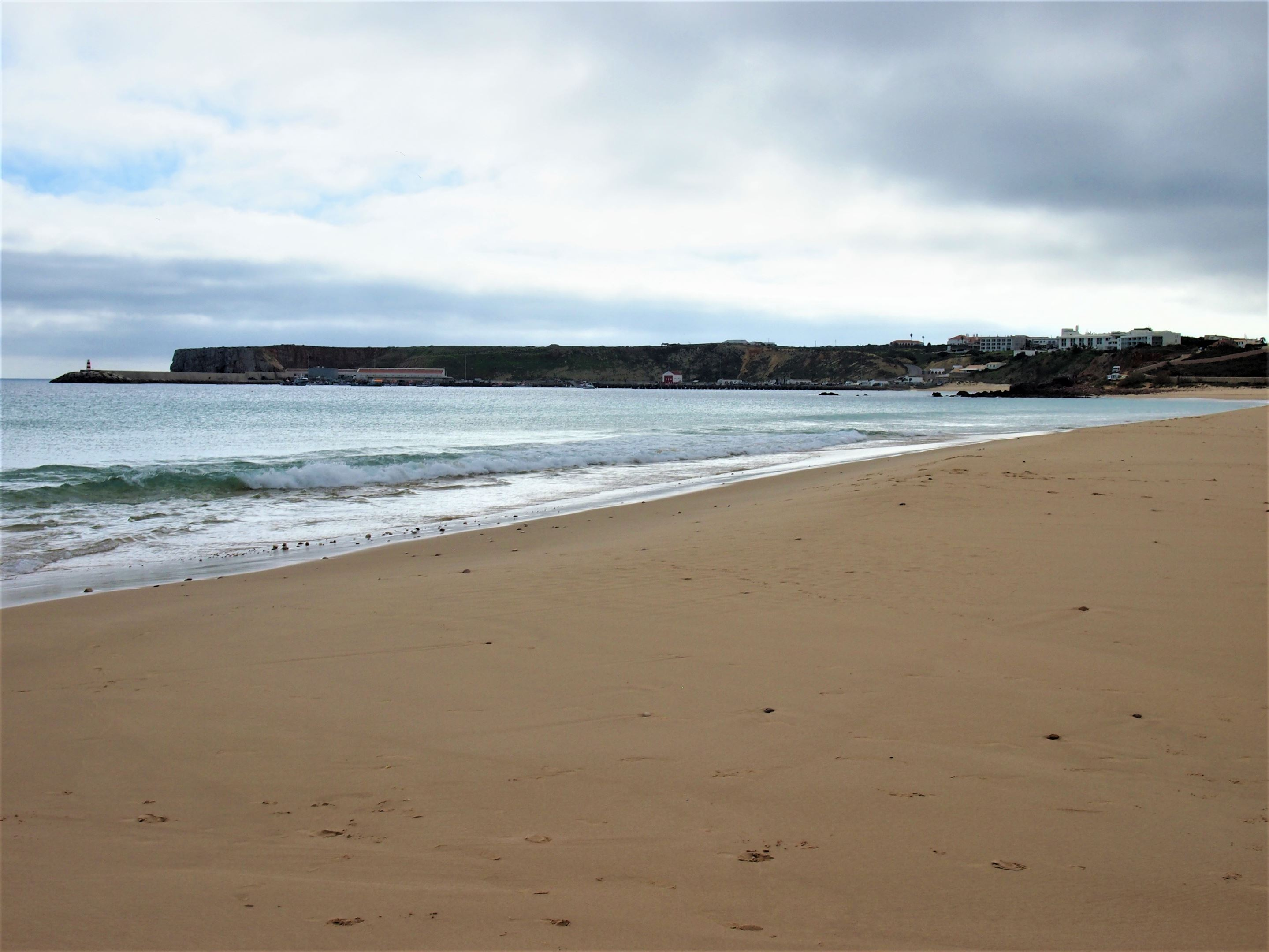 From the short drive from Praia da Ingrina to Praia do Martinhal, the weather changed rapidly.